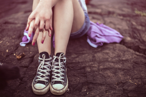 乾燥した足