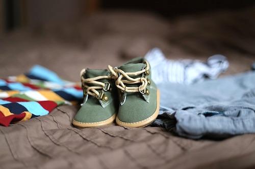 子供靴の年齢別の平均サイズはこのくらい。