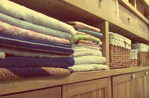 お風呂で蒸しタオル