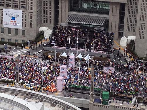 東京マラソンどれだけ混雑する?電車はどこの駅が?スタートor帰り?